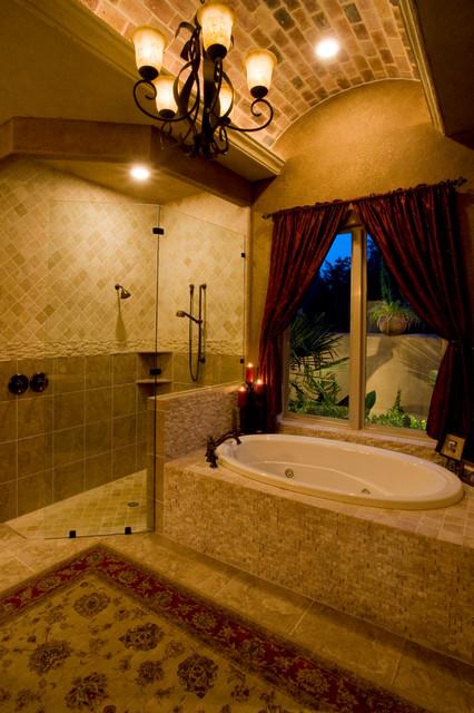 Spanish Colonial Home by Jim Boles mediterranean-bathroom