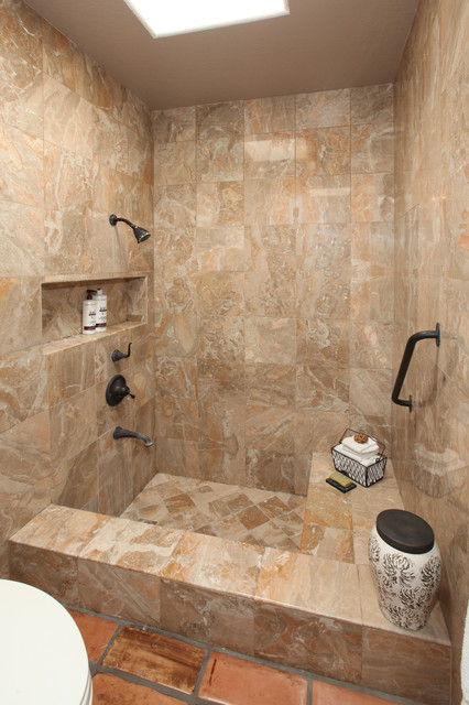 custom shower tub combo. Spanish Colonial Kitchens and Baths mediterranean bathroom  Mediterranean Bathroom