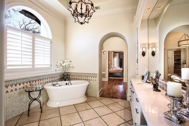 Spanish colonial master bathroom mediterranean for Spanish colonial bathroom design