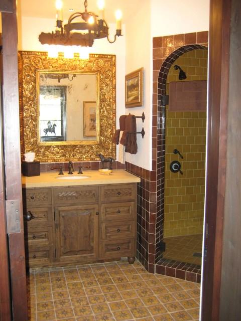 Spanish Colonial Ranch Mediterranean Bathroom Orange County By Concept Studio Inc