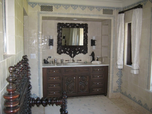 Spanish colonial ranch mediterranean bathroom orange for Spanish colonial bathroom design