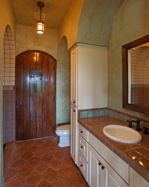 Bathroom Mediterranean Style: Spanish Colonial