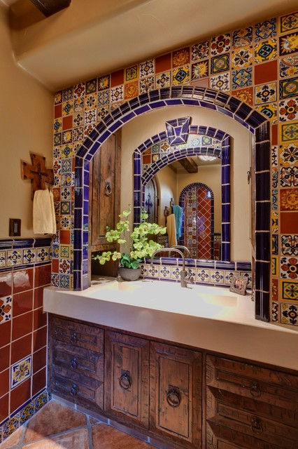Spanish delight mediterranean bathroom other by for Bathroom design consultant