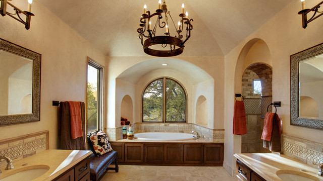 Spanish Hacienda - mediterranean - bathroom - austin - by Geschke