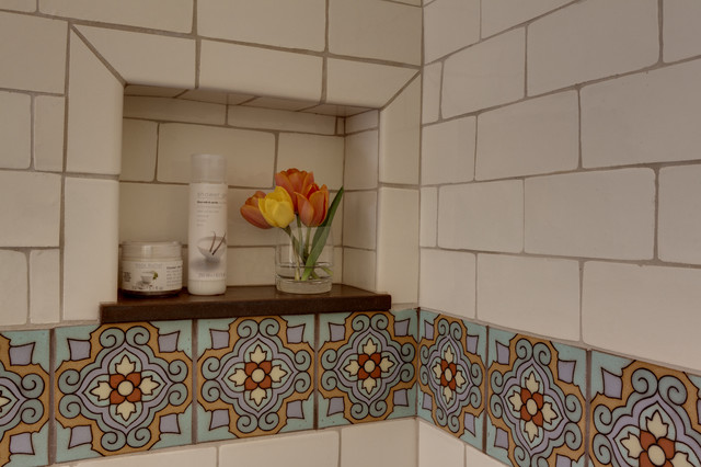 Spanish House Remodel Mediterranean Bathroom Los