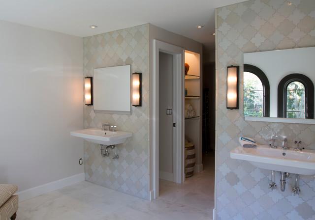 Spanish Mission Master Bathroom Mediterranean Bathroom