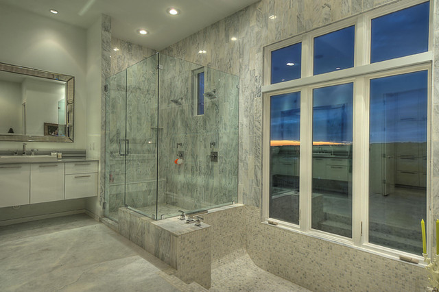 Spanish Oaks Residence Master Bath contemporary-bathroom