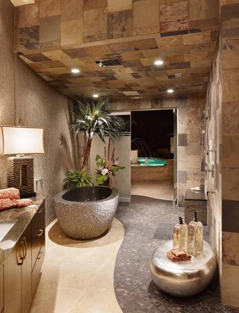 Spanish Oaks Spa Bath contemporary-bathroom