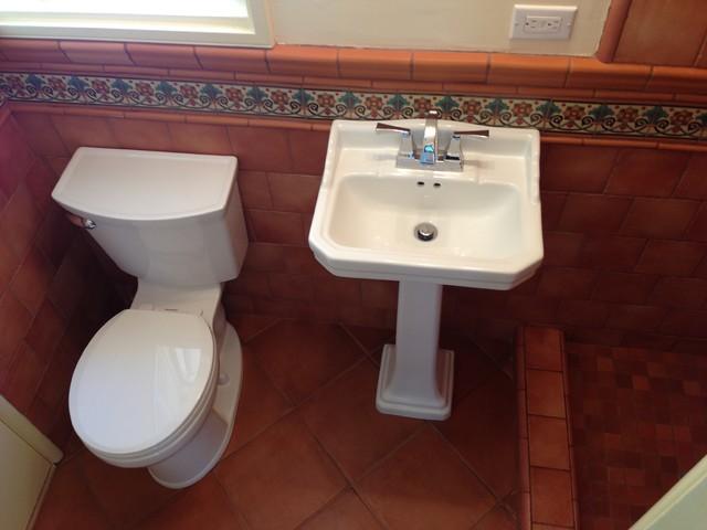 spanish retro style bathroom remodel  mediterranean  bathroom, Bathroom decor