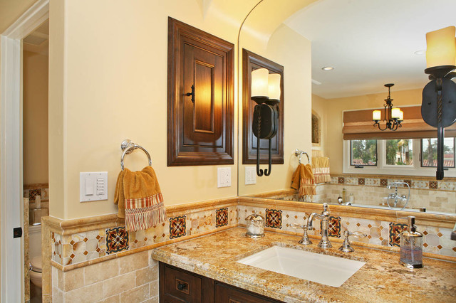 Spanish Revival Master Bath Mediterranean Bathroom