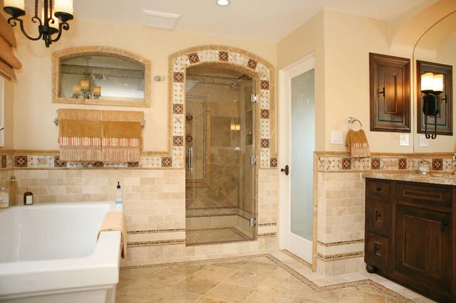 Spanish Revival Master Bath - Mediterranean - Bathroom - San ... on spanish style bathroom, spanish revival bathroom master, mexican tile bathroom designs,