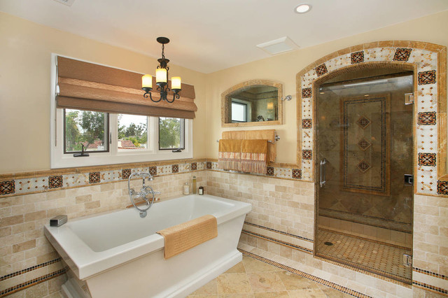 Mediterranean Style Luxury Bathrooms: Spanish Revival Master Bath