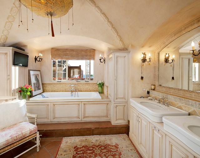 spanish revival residence - mediterranean - bathroom - santa