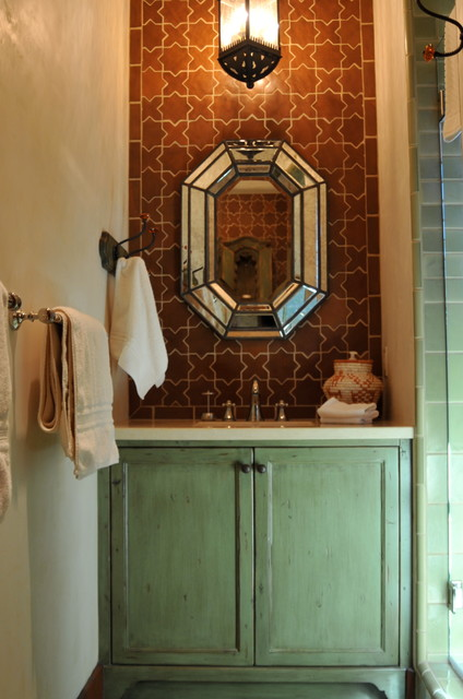 Spanish Style Home Traditional Bathroom