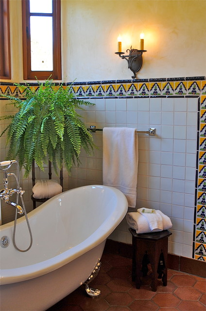 Master bath shower contemporary bathroom san francisco by - Spanish Style Home Traditional Bathroom San