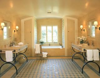 Spanish Style Master Bathroom Mediterranean Bathroom