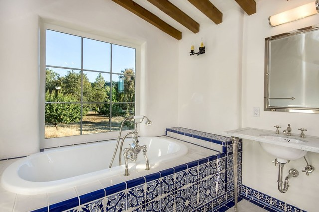 Spanish Style Mediterranean Bathroom