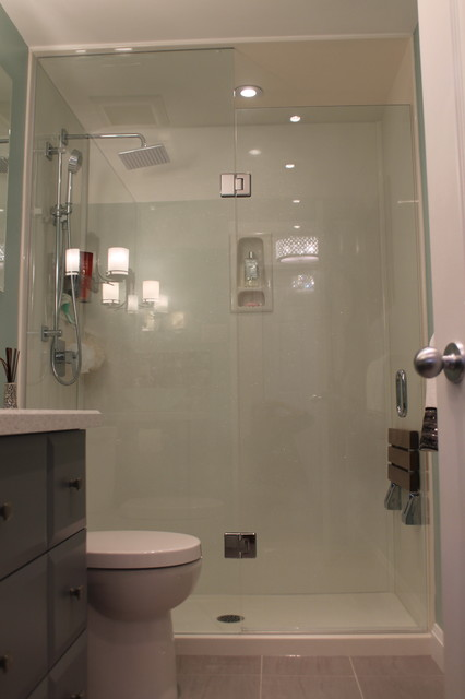 Amazing Sparkle White Shower Walls And Base Replace An Old Bath Tub Eclectic  Bathroom