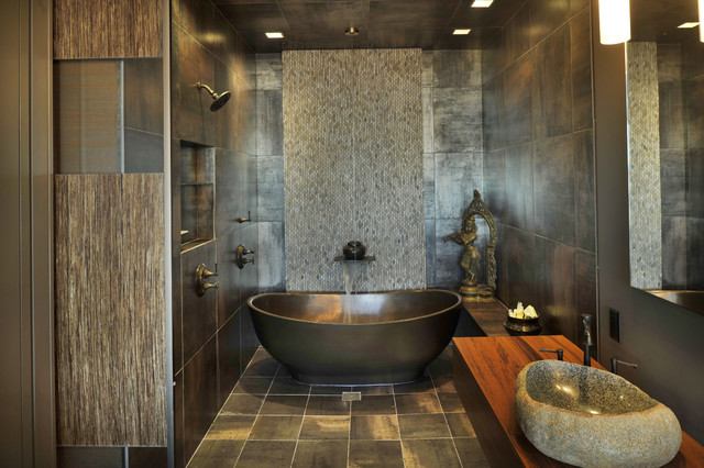 Spas at home for Asian design bathroom