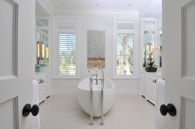 British Colonial Hilton Nau Renovated Bathroom With Unique Toilet Placement