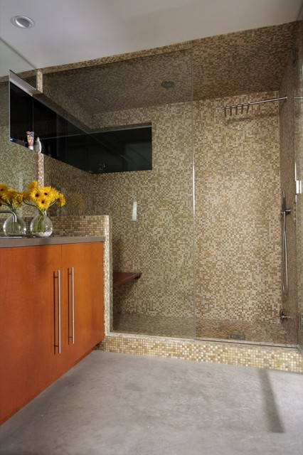Split House contemporary-bathroom