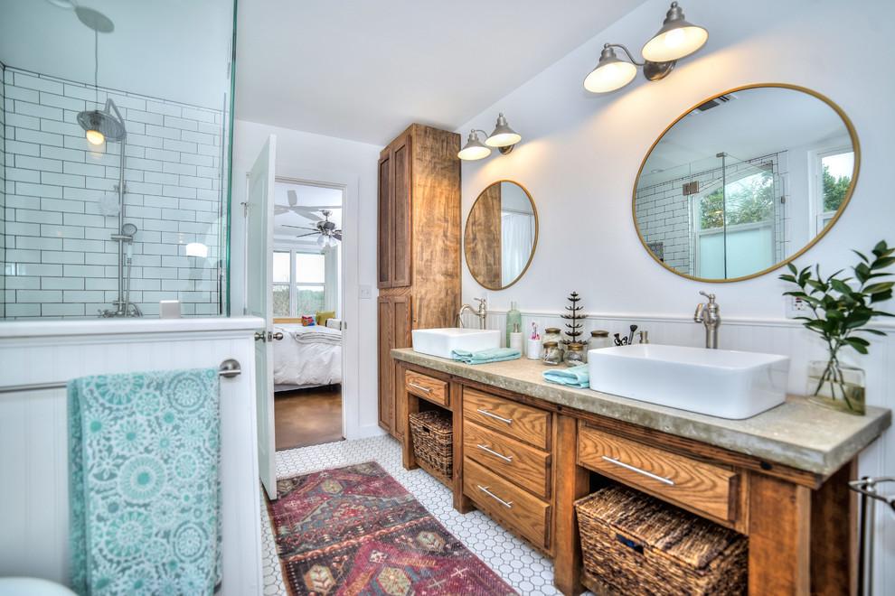 Spring Branch, TX Ranch Home - Craftsman - Bathroom ...