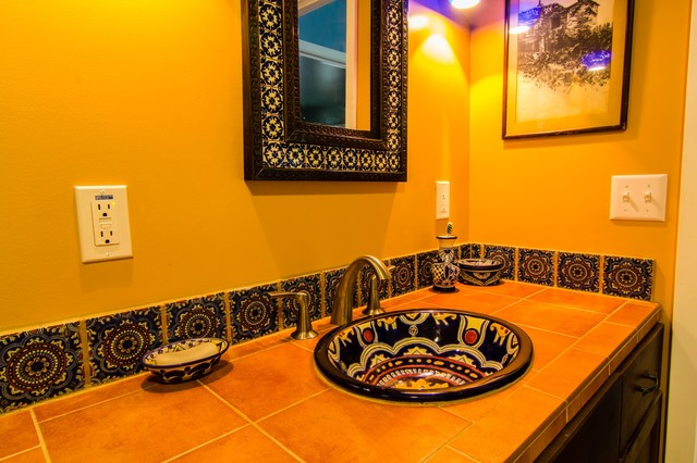 Superb Spanish Style Bathroom Sinks And Vanities Largest Home Design Picture Inspirations Pitcheantrous