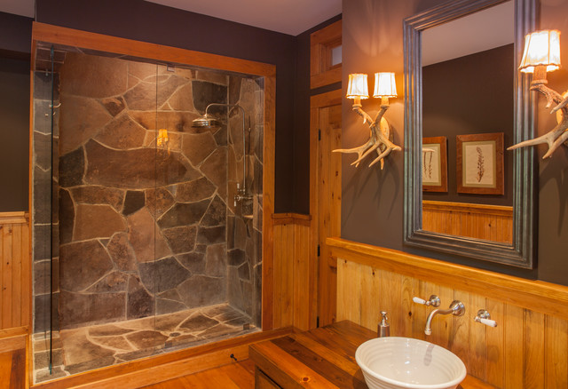 Spruce lake cottage rustic bathroom toronto by for Lake cottage bathroom ideas