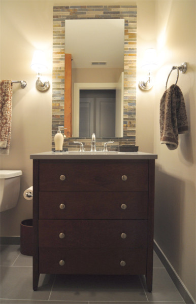 St Ben 39 S Lofts North Center Condo Traditional Bathroom Chicago By Habitar Design