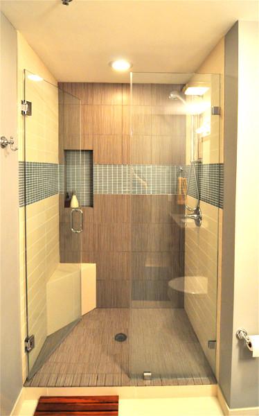 St. Ben's Lofts - North Center Condo contemporary-bathroom