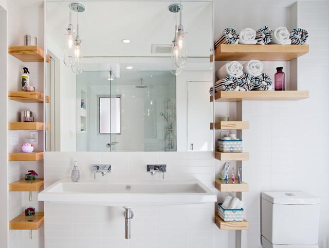20 astuces rangement pour optimiser une petite salle de bains - Rangement Pratique Salle De Bain