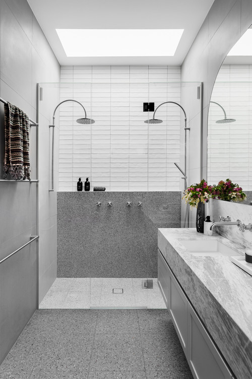 Double shower bathroom