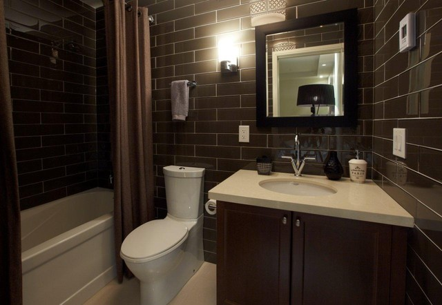 St lawrence market condo guest washroom modern for Washroom design ideas