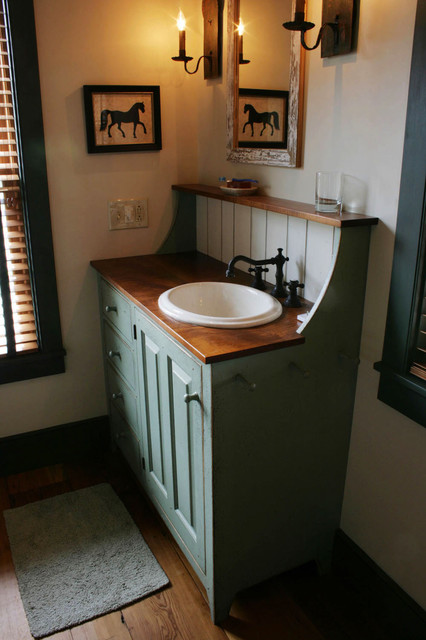 St. Louis 10 primitive Log Cabin Kitchen Bar Bathroom Vanities traditional- bathroom