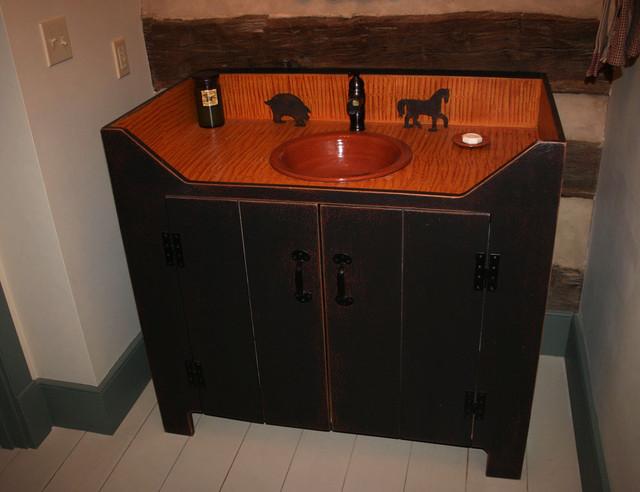 Bathroom Sink Vanity Image Of Witching Primitive Light. Primitive Bathroom Sink Cabinet   Bathroom