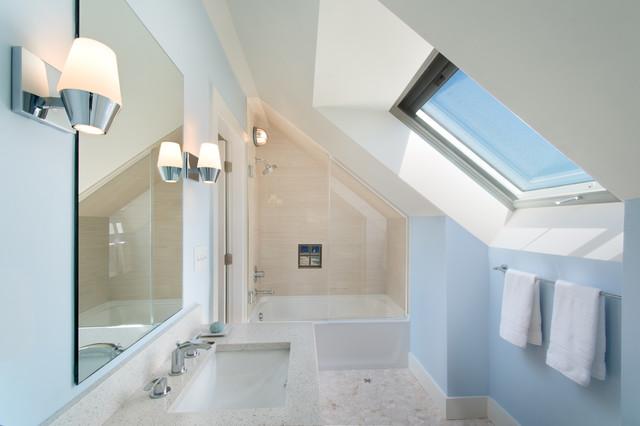 8 belles salles de bains aménagées sous les combles
