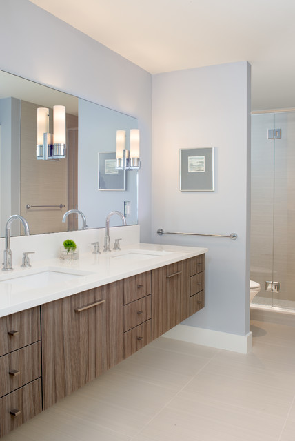 stageneck modern beach style bathroom - Beach Style Bathroom