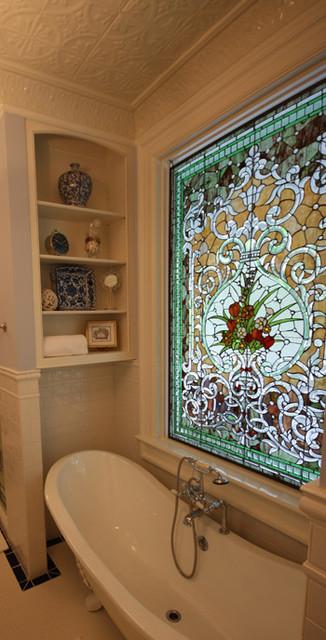 Stain Glass Bath traditional-bathroom