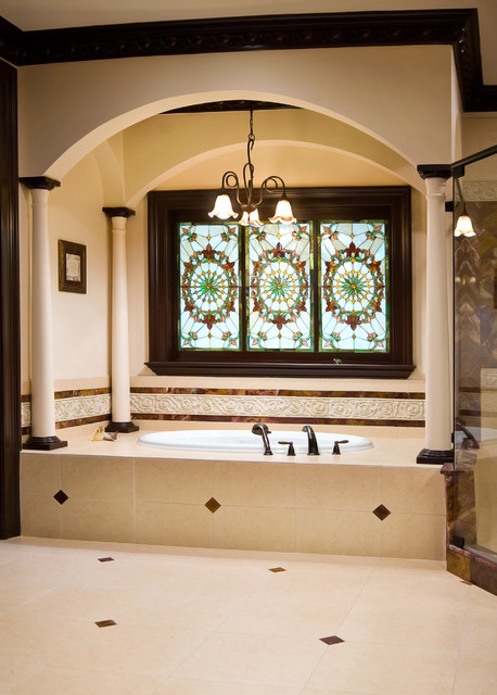 Stained Glass Master Bathroom Bathroom Charleston By