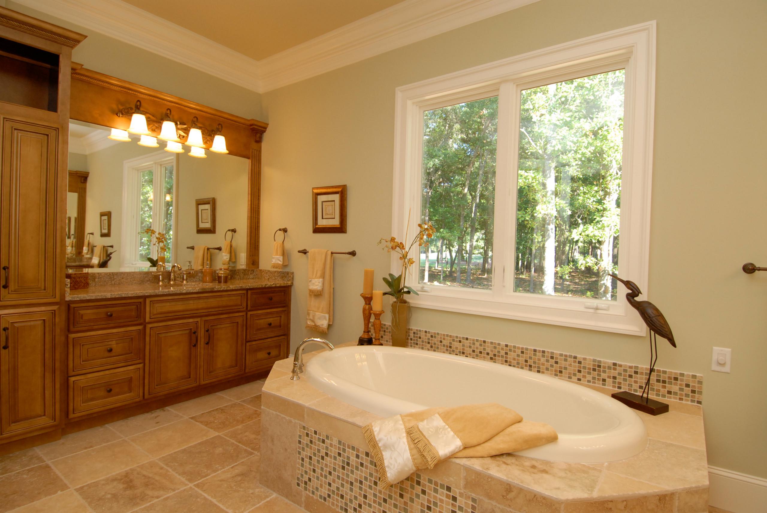 Stained Maple Custom Bathroom