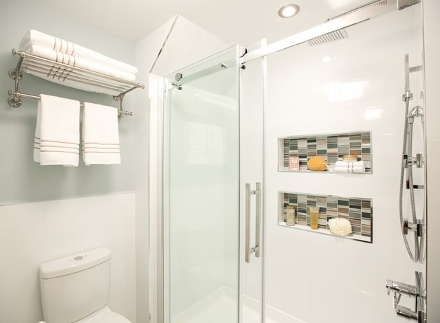 Stand Up Shower Contemporary Bathroom New York By