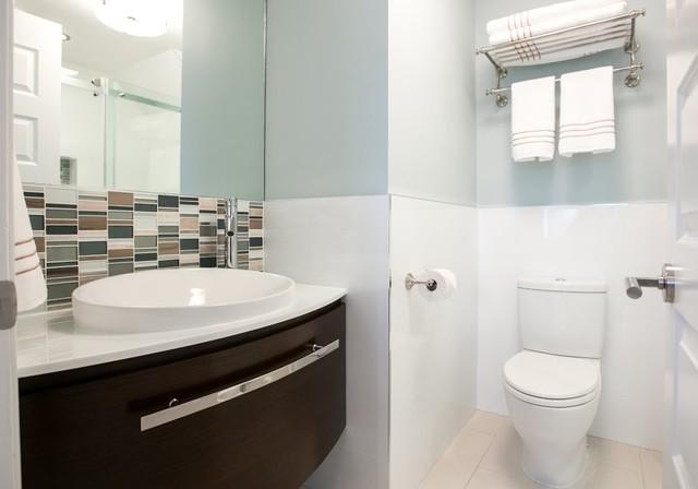 stand up shower - contemporary - bathroom - new york