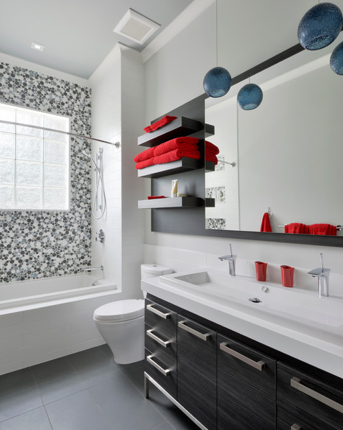 contemporary bathroom by ottawa kitchen bath designers georgina
