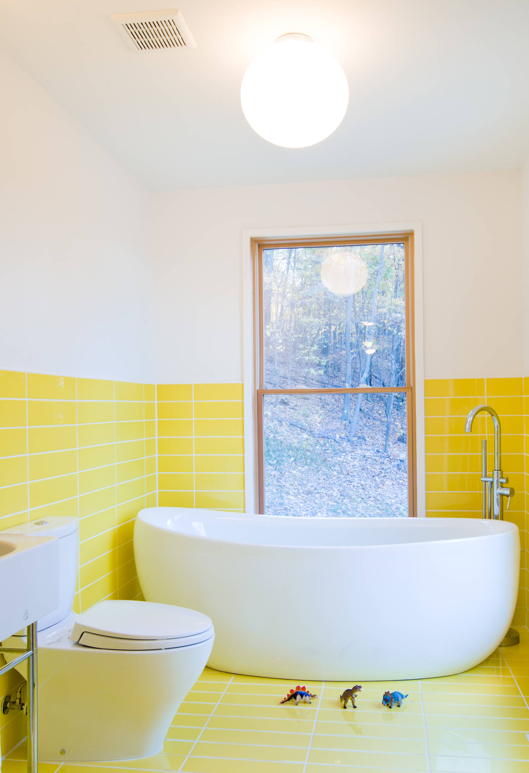 75 Beautiful Yellow Tile Bathroom Pictures Ideas April 2021 Houzz