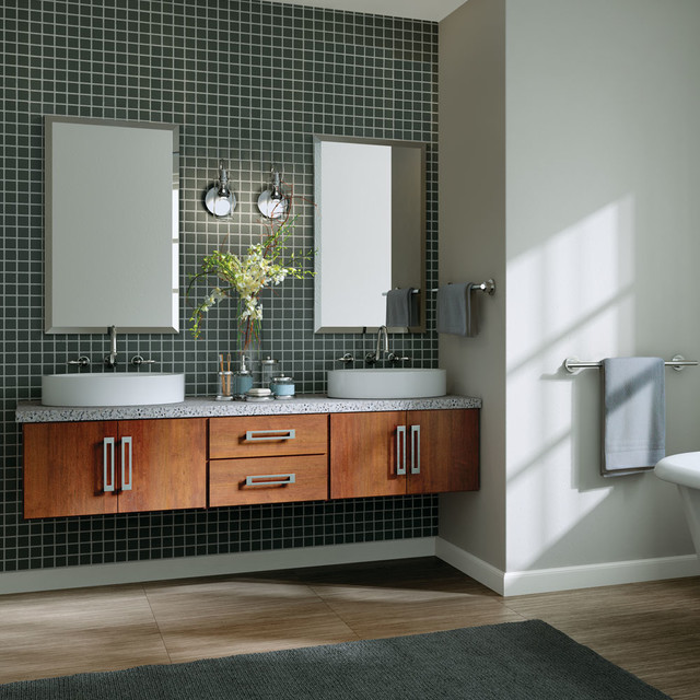 StarMark Cabinetry Contemporary Floating Vanity Cabinets In ...