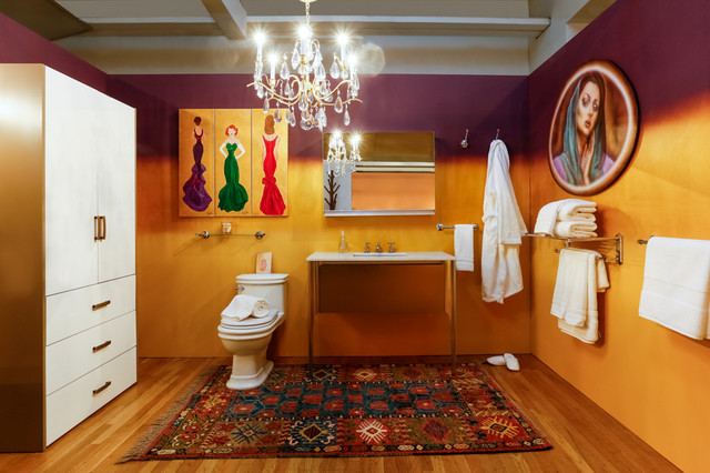 Start Your Day With Glamor Design On A Dime 2016 Eclectic Bathroom New York By Julie