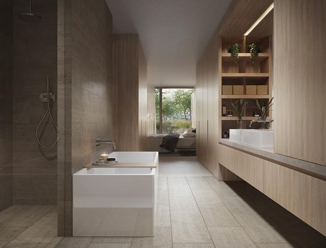 Station Street Residences modern-bathroom