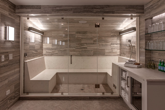 Steam Room And Spa Contemporary Basement Philadelphia By Wyant Architecture