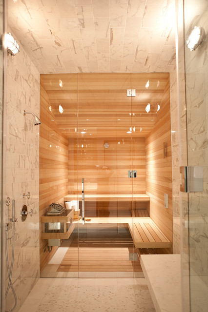 Steam room contemporary bathroom san francisco by for Master bathroom with sauna