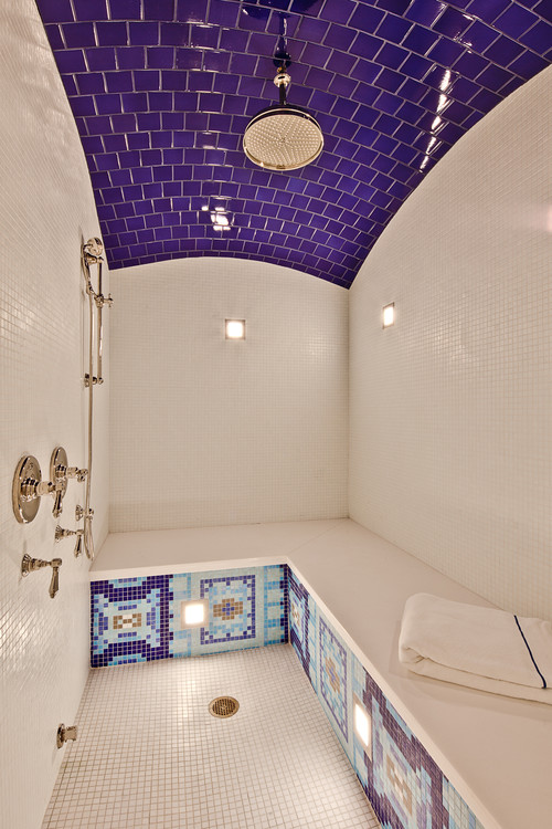 traditional bathroom The Fifth Wall: Designing Your Ceiling